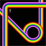 Rainbow lines retro background Stock Photos