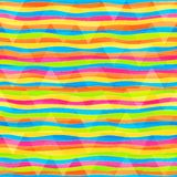 Rainbow lines seamless pattern Royalty Free Stock Image