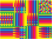 Rainbow lines and squares background Royalty Free Stock Photography