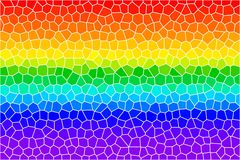 Rainbow lines stained glass Stock Photography