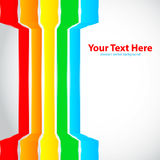 Rainbow lines. On white background Royalty Free Stock Photo