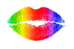 Rainbow lips Stock Images