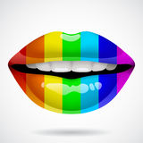 Rainbow lips Royalty Free Stock Images