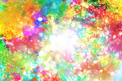 Rainbow liquid colors Royalty Free Stock Photos