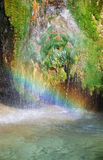 Rainbow on Lisine waterfall Royalty Free Stock Images
