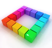 Rainbow little 3d cubes Royalty Free Stock Photography