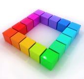 Rainbow little 3d cubes Royalty Free Stock Photography