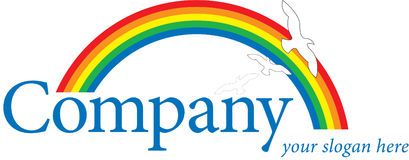 Rainbow Logo Royalty Free Stock Image