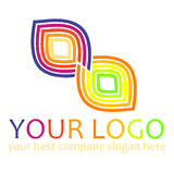 Rainbow Logo Royalty Free Stock Photo