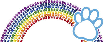Rainbow logo stock illustration
