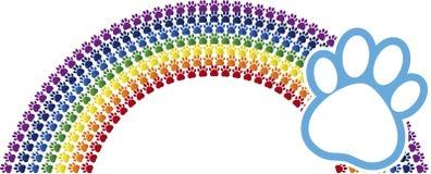 Rainbow logo Stock Image