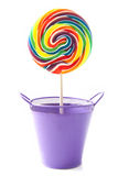Rainbow lollipop Royalty Free Stock Photography
