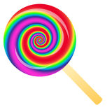 Rainbow lollipop Stock Photography