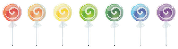 Rainbow Lollipop Stock Image