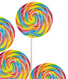 Rainbow Lollipop Background Royalty Free Stock Image