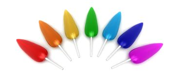 Rainbow lollipops Stock Images