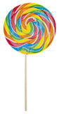 Rainbow Lolly Pop. Candy Isolated on White with a Clipping Path Royalty Free Stock Images
