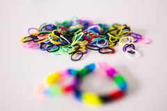 Rainbow loom bands Royalty Free Stock Images