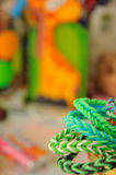 Rainbow loom bands Royalty Free Stock Image