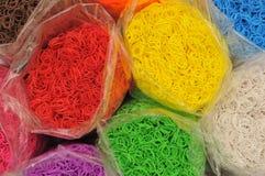 Rainbow Loom bands Royalty Free Stock Photo