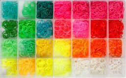 Rainbow loom rubber Royalty Free Stock Image