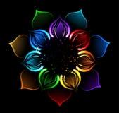 Rainbow Lotus Royalty Free Stock Photo