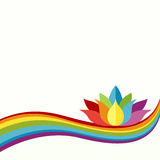 Rainbow Lotus Background Stock Photos