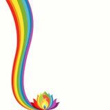 Rainbow And Lotus Harmony Concept Stock Photography
