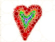 Rainbow Love Heart Mosaic. Abstract Love Heart Rainbow Stock Photo