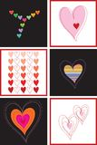 Rainbow love and hearts square Stock Images