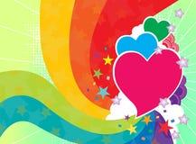 Rainbow Love Template Stock Photography