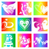 Rainbow lovers Stock Images