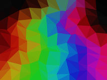Rainbow low poly triangle style vector mosaic. Background Royalty Free Stock Photos