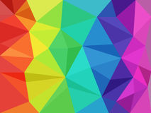 Rainbow low poly Royalty Free Stock Photography