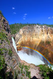 Rainbow at Lower Falls - Yellowstone Royalty Free Stock Image