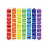 Rainbow of macaroon. Vector illustration Stock Photography