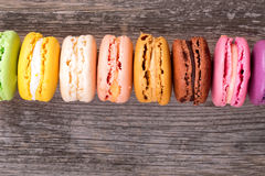 Rainbow macaroons Stock Photography