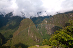 Rainbow at Machu Picchu sightseeing Royalty Free Stock Images