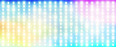 Rainbow made of light bulbs Stock Image