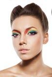 Rainbow makeup royalty free stock photo