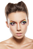 Rainbow makeup Royalty Free Stock Photography