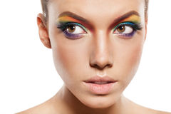 Rainbow makeup Stock Photo