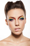 Rainbow makeup Stock Photos