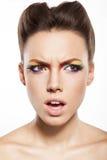 Rainbow makeup Stock Image