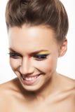 Rainbow makeup Stock Photo