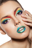Rainbow makeup Royalty Free Stock Photo