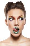 Rainbow makeup royalty free stock photography