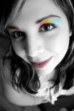 Rainbow Makeup Woman Stock Photos