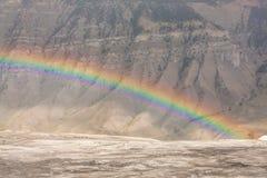 Rainbow at Mammoth Springs Royalty Free Stock Image