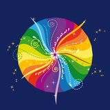 Rainbow mandala 2 Stock Photos